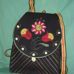 Broderad ryggsäck